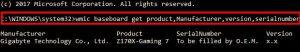 what motherboard i have command prompt win 10